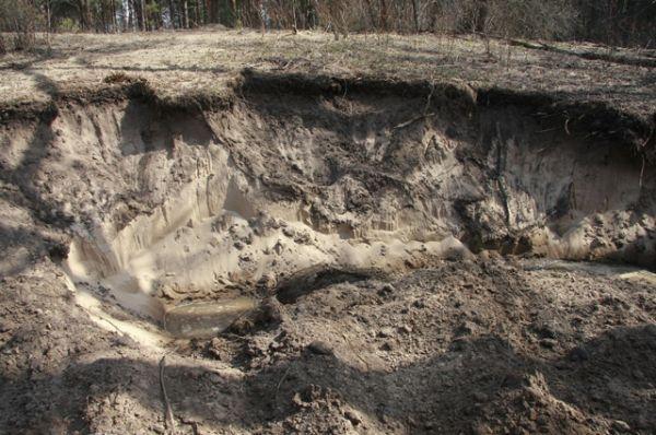 нарушение почвенного покрова