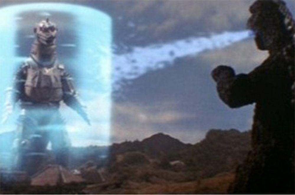 Следующим врагом Годзиллы стал робот Мехагодзилла, присланный на Землю инопланетным разумом. Для того, чтобы Годзилла смог победить своего механического визави ему на помощь приходят люди – человечество возрождает легендарного монстра Короля Сизера.