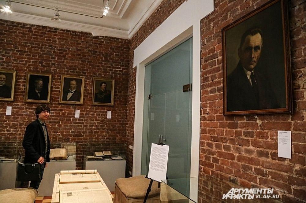 Экспозиция в музее им. В. Арсеньева.