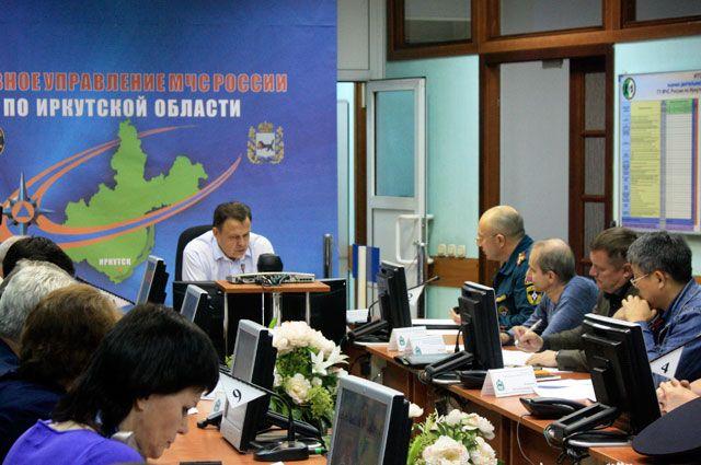 В связи с крупными действующими пожарами в Приангарье было проведено совещание.