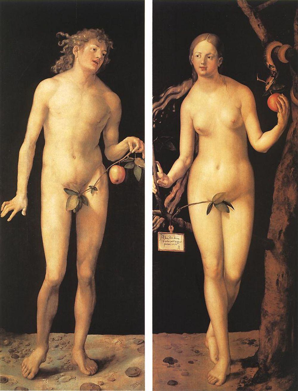 Итальянский опыт отразился в манере Дюрера изображать человеческое тело. Исчезает угловатость фигур, свойственная готическим произведениям, появляется динамика движения, новые ракурсные изображения персонажей.