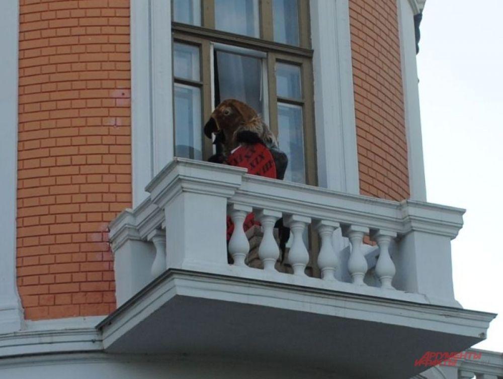 Талисман местного праздника краснокнижный «Орлаша».