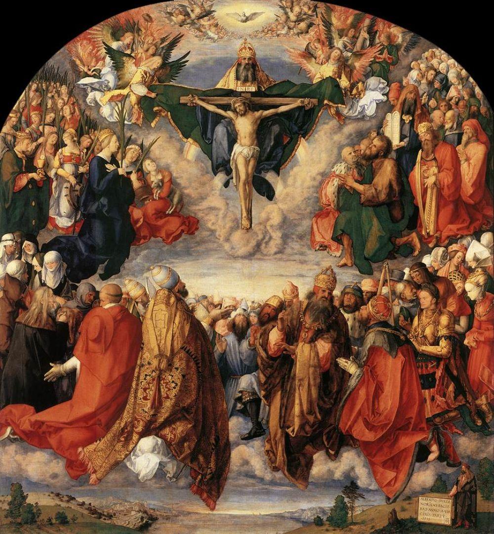 В 1509 году Дюрер избран членом Большого совета Нюрнберга, а через два года пишет серьезный заказ – алтарь «Поклонение святой Троицы», но несмотря на важность заказа все еще тяготится тем, что современники недооценивают его как художника.