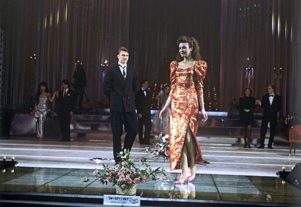 Эха Урбсаллу, участница конкурса из Эстонской СССР. Девушка не получила титул «Мисс СССР», но была удостоена звания «Мисс супермодель».