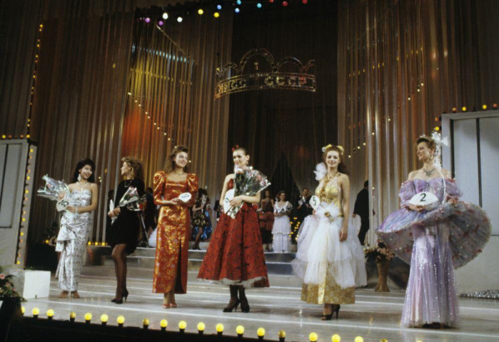 Финалистки конкурса в Государственном центральном концертном зале «Россия».