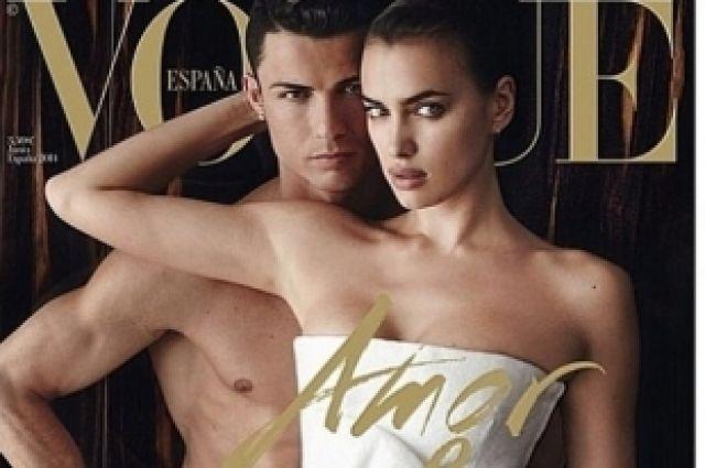 Ирина Шейк и Криштиану Роналду снялись обнаженными для обложки «Vogue»