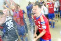 Сергей Игнашевич уже не в первый раз устраивает фонтан из шампанского в составе ЦСКА.
