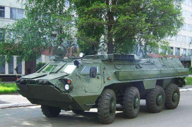 Омский транспортер отправился в Казахстан.