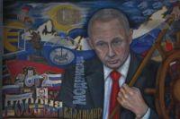 Художник уже не первый раз рисует Путина.