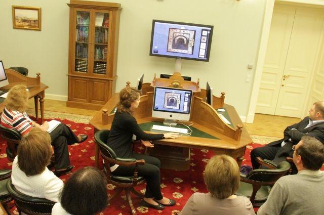 Демонстрация возможностей в читальном зале.