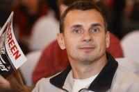 Режиссёр Олег Сенцов на открытии Международного кинорынка Red Square Screenings в ГУМе.