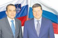 Олег Сорокин (справа): «Шаг за шагом отношения со Словенией двигаются вперёд».