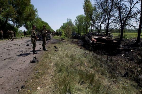 Сожженые украинские БМП