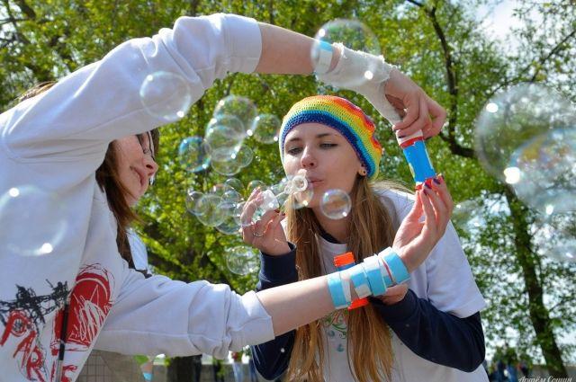 Веслый праздник мыльных пузырей пройдет в воскресенье.