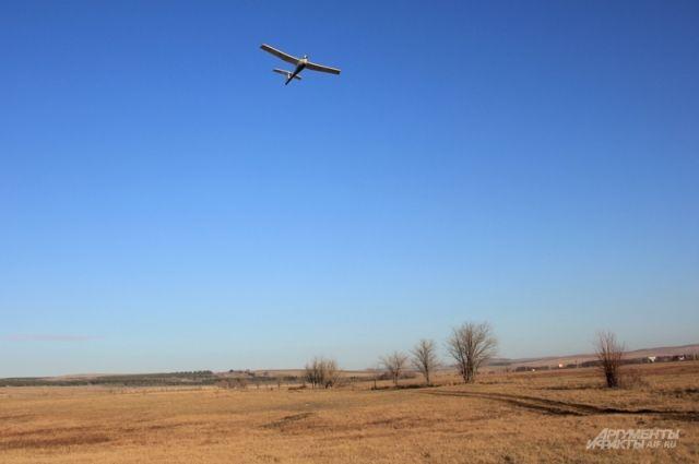 Наблюдательный полет на границе с РФ