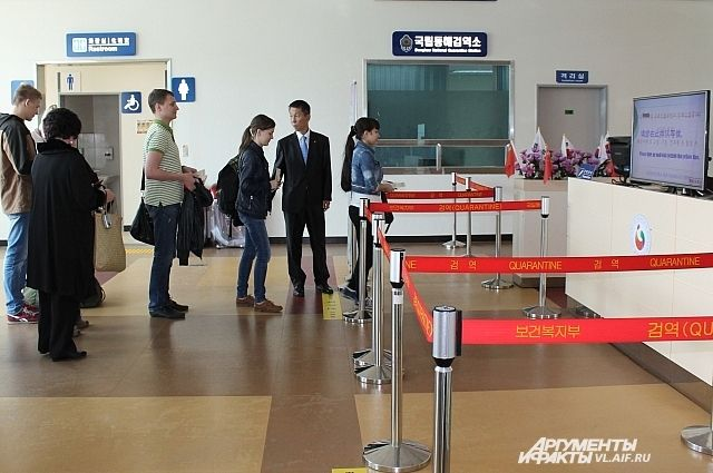 В корейском аэропорту.