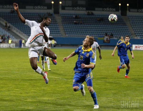 Сборная Украины вышла на поле против сборной Нигера