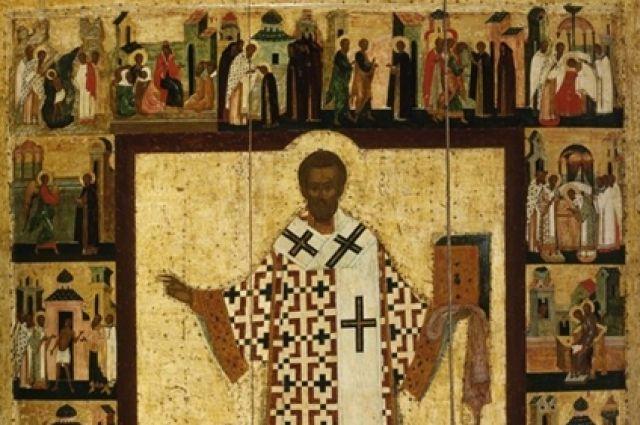 Святой Иоанн Златоуст с житием.