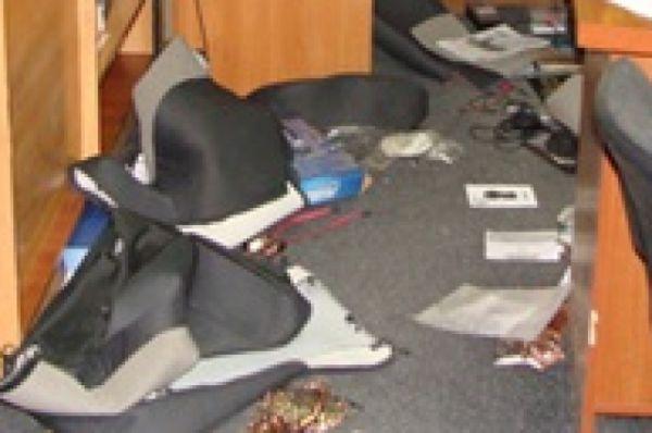 Погром в горотделе милиции в Першотравенске