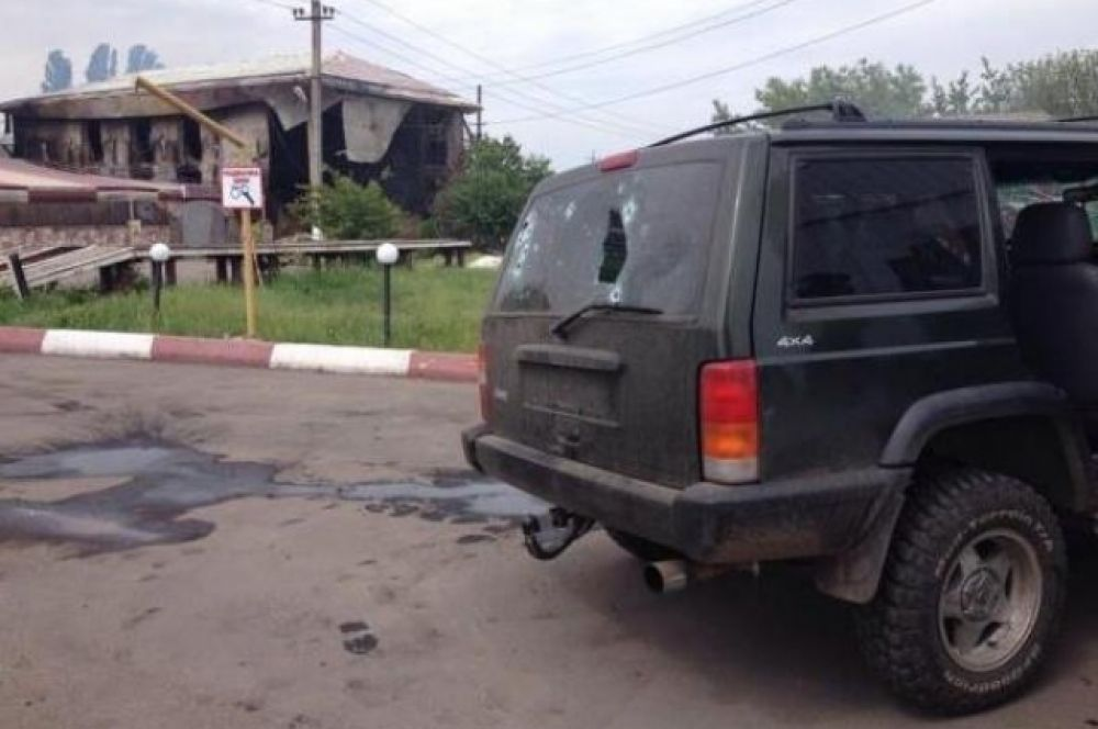 Расстеленный автомобиль в Карловке