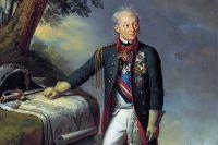 «Портрет А. В. Суворова». Фрагмент картины художника К. Штейбена, 1815.