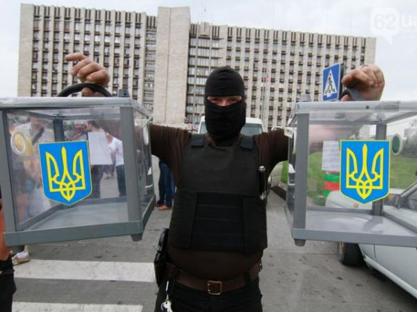 Сепаратисты изъяли урны для голосования в Донецке