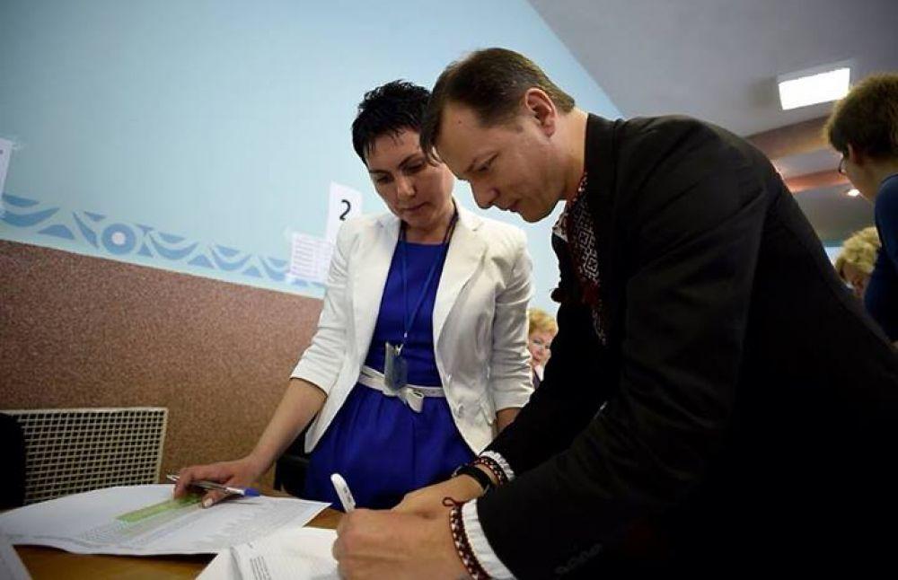 Кандидат в президенты Олег Ляшко проголосовал на выборах