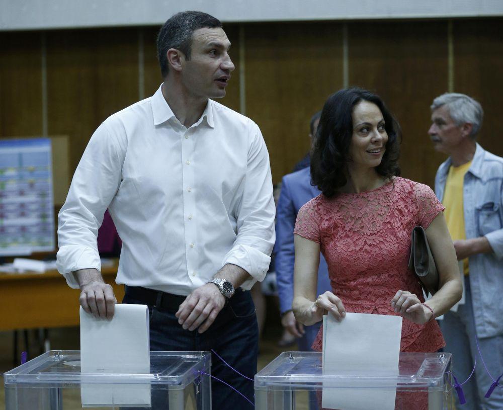 Виталий Кличко с женой Натальей.