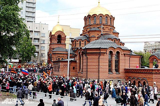 В Крестном ходе приняли участие более 14 тысяч верующих Новосибирска