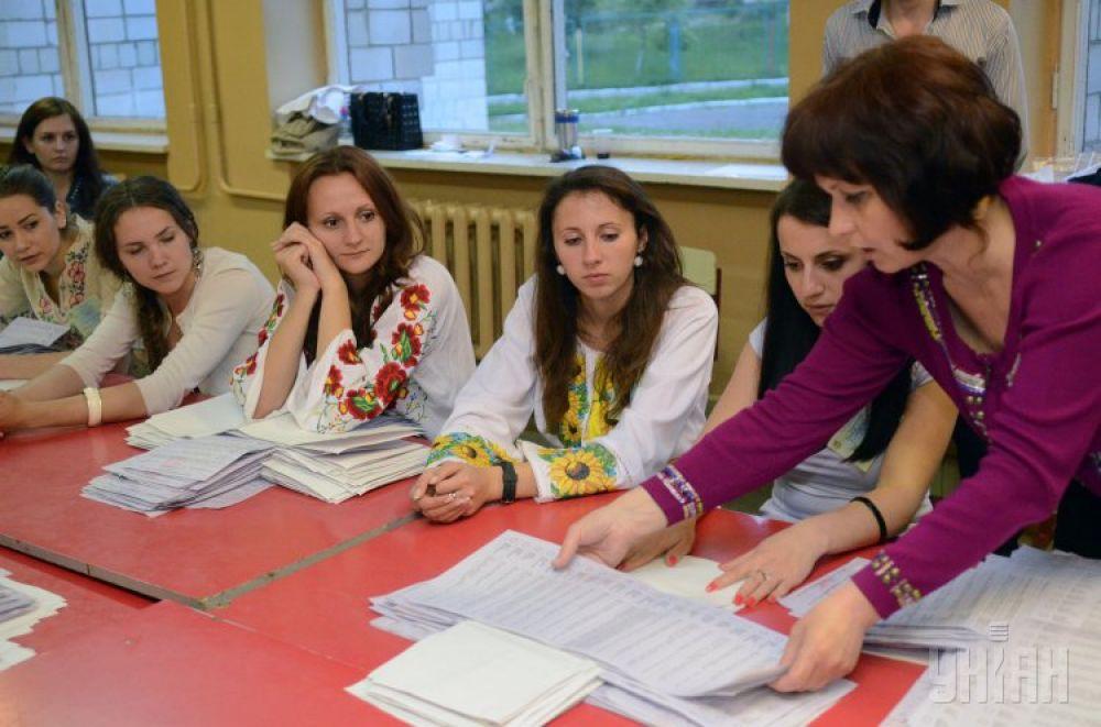 Подсчет голосов во Львове