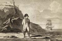 Наполеон I Бонапарт на Эльбе. 1814–1815 гг. Гравюра.