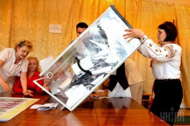 Подсчет голосов на выборах в Украине