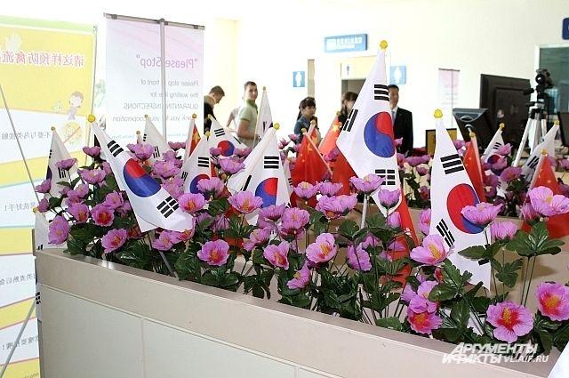 Российских туристов такой красотой встречают в Корее.
