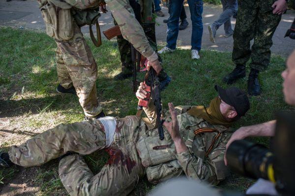 Раненый боевик