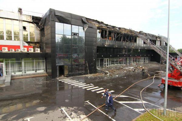 Дворец спорта «Дружба» после пожара