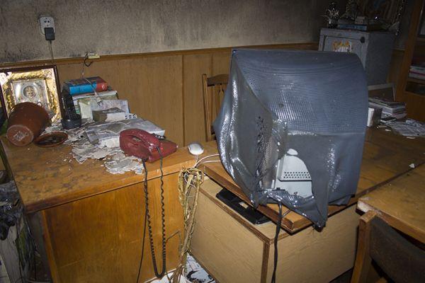 Помещение редакции измаильской газеты после пожара