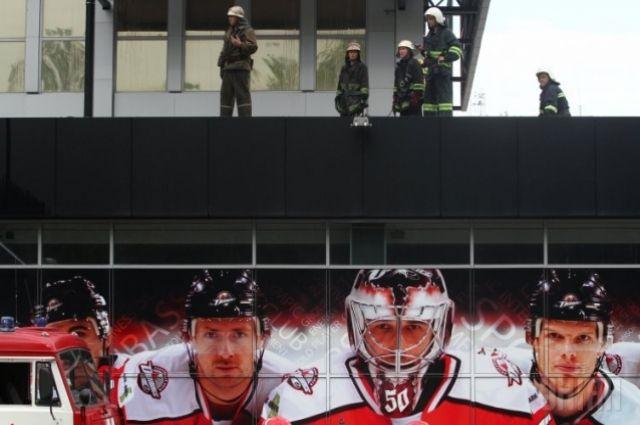 Арена ХК «Донбасс» после пожара
