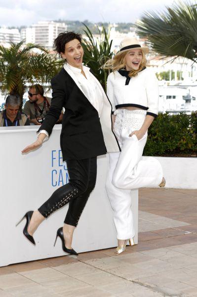 Juliette Binoche and Chloe Grace Moretz