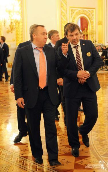 Руководство сборной России по хоккею.