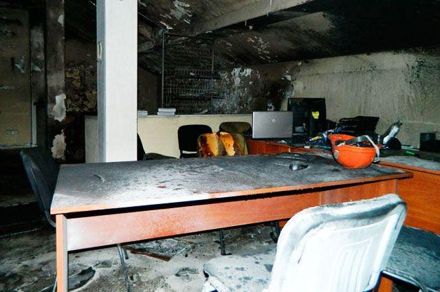 Офис ВО Свобода после пожара в Одессе