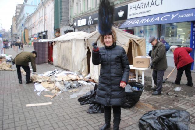 Палатки активистов