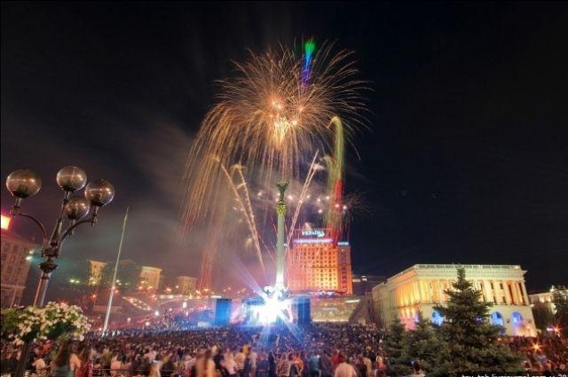 Фейерверк на Майдане Незалежности