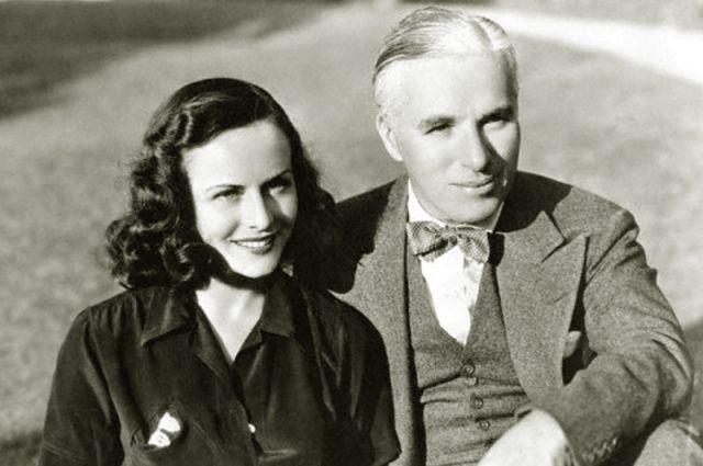 Полетт Годдар и Чарли Чаплин. 1938 год.