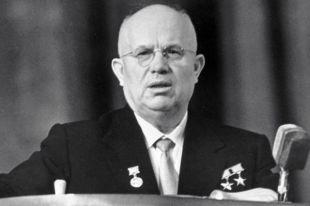 I-й секретарь ЦК КПСС, Председатель Совета Министров СССР Никита Сергеевич Хрущёв.