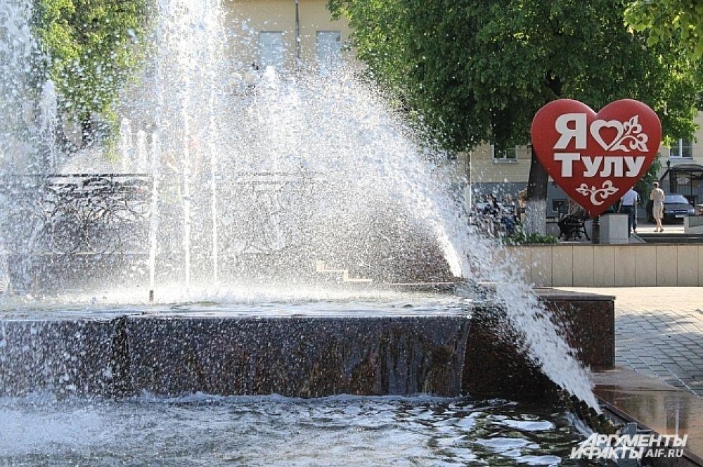 Сквер возле Тульского драматического театра