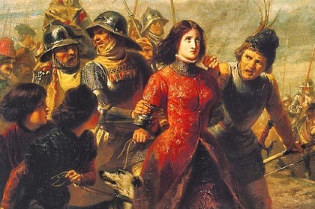 Картина «Пленение Жанны Д'Арк». Адольф-Александр Дилленс.