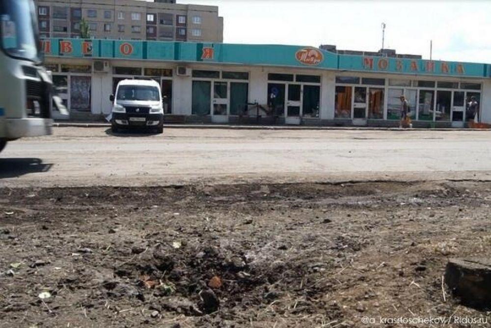 Снаряд упал возле рынка в Славянске