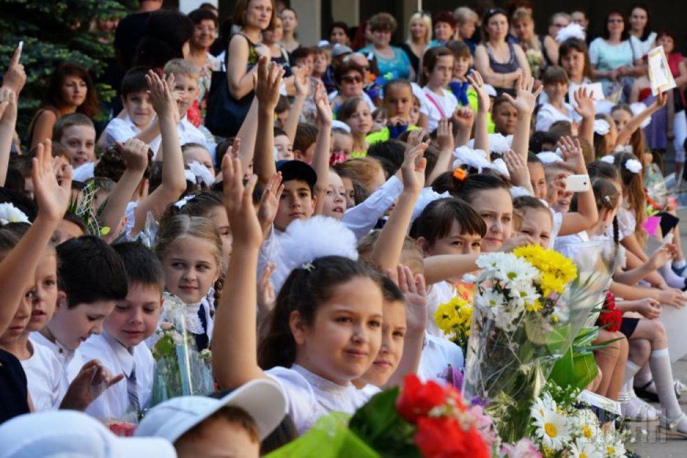 Последний звонок в одной из одесских школ