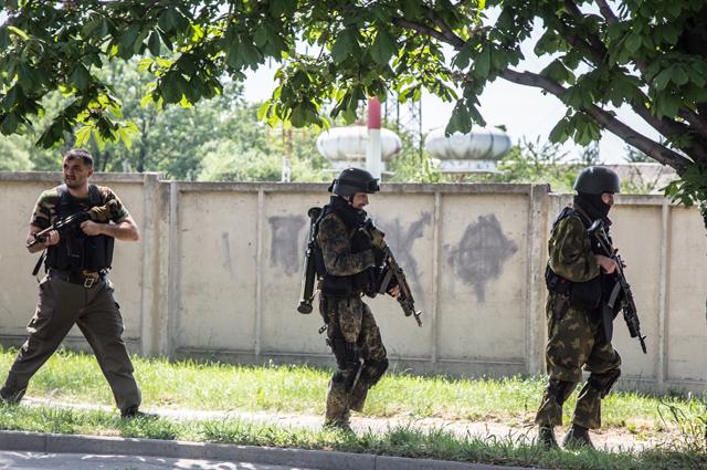 Боевики у границы с Украиной