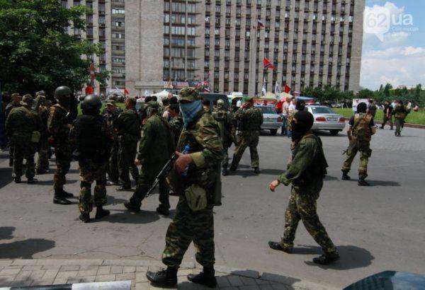 Боевики в центре Донецка